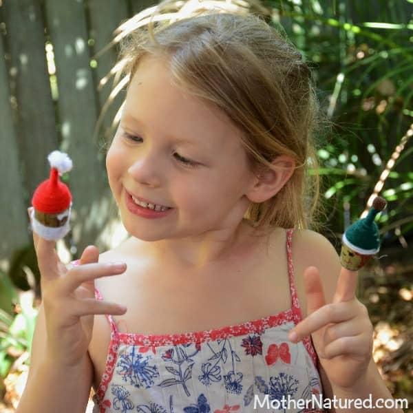 Gumnut finger puppets