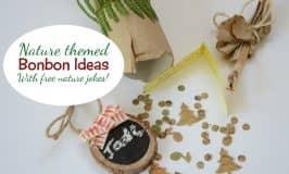 Nature bonbon ideas — with free printable nature jokes!