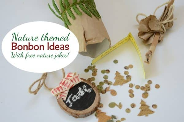 Nature bonbon ideas — with free printable nature jokes!