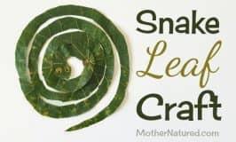 Sssuper simple leaf snake craft for kids