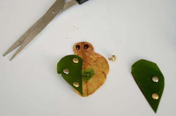 Leaf love bug craft