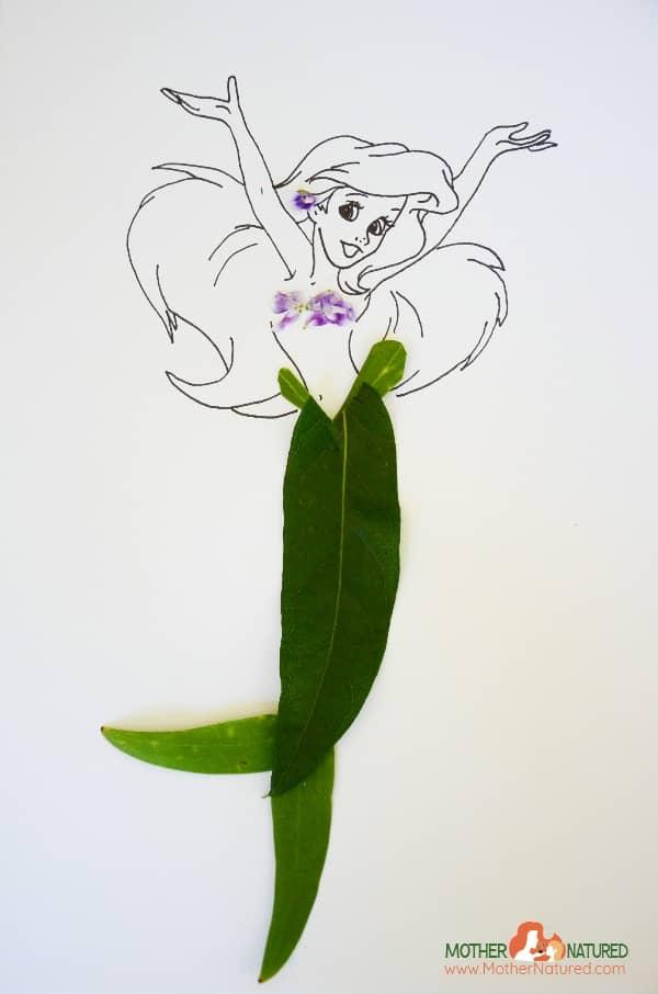 Ariel disney princess nature craft