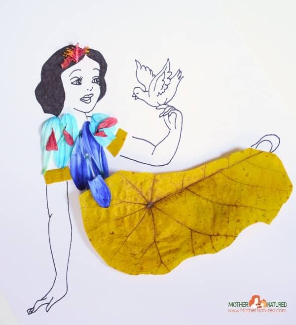 Disney Princess snow white nature craft