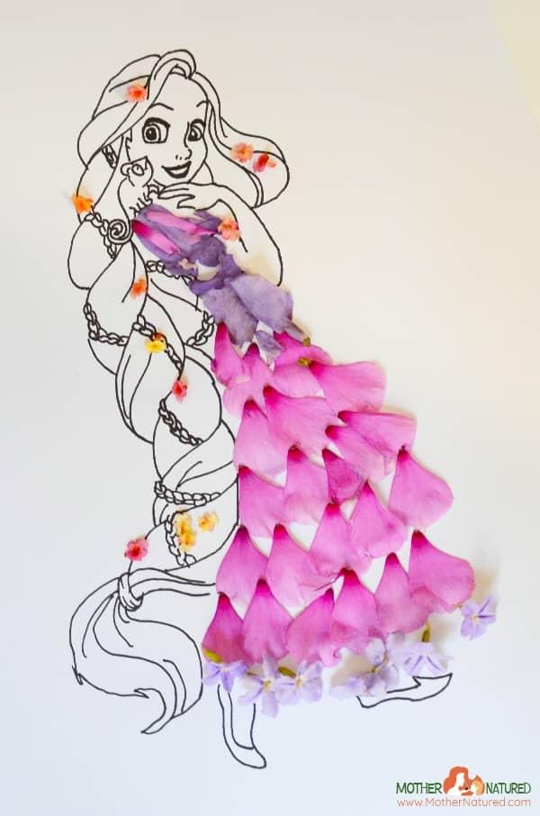 Rapunzel nature craft