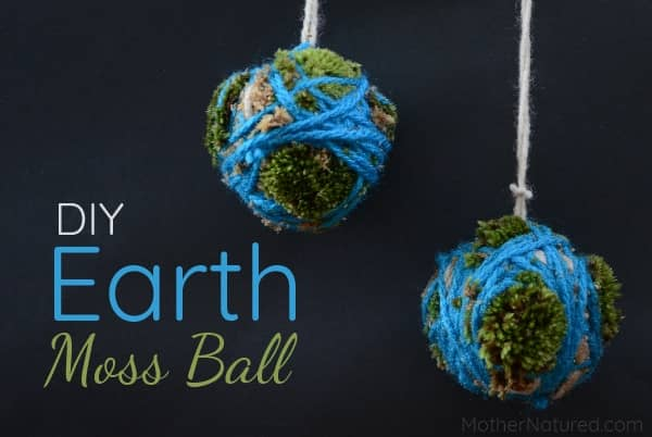 DIY Sphagnum moss Earth Ball