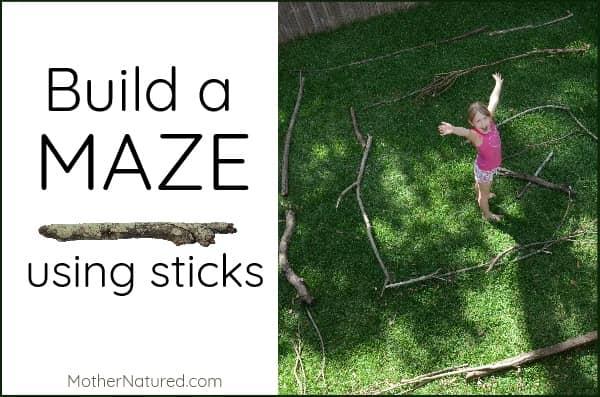 Build a maze using sticks