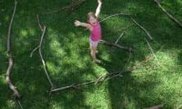 Build a maze using sticks — kids will love it!