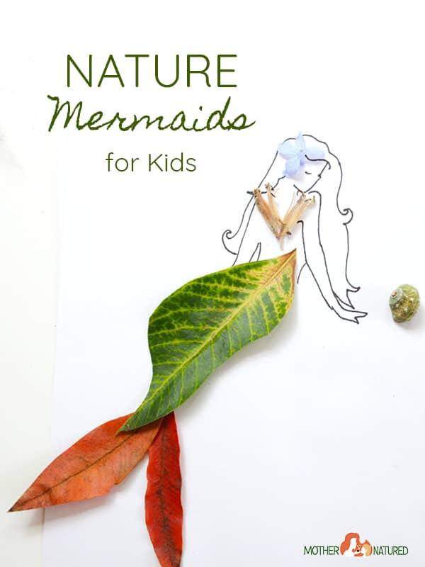 Mermaid nature crafts