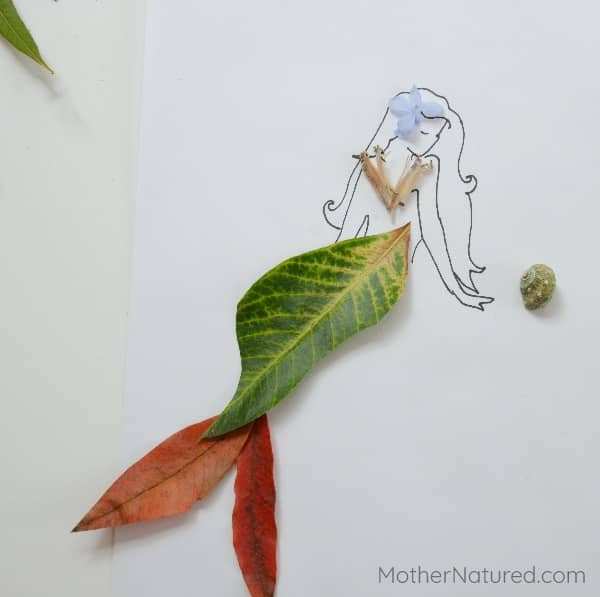 Mermaids with tails as leaves
