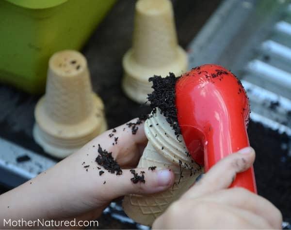 Making dirt ice creams