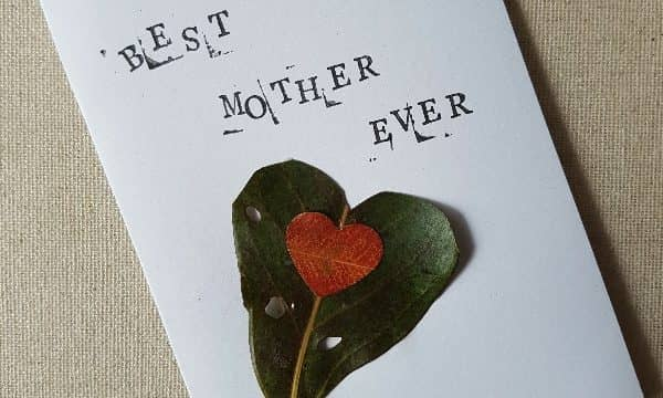 Nature crafted Mother's Day cards