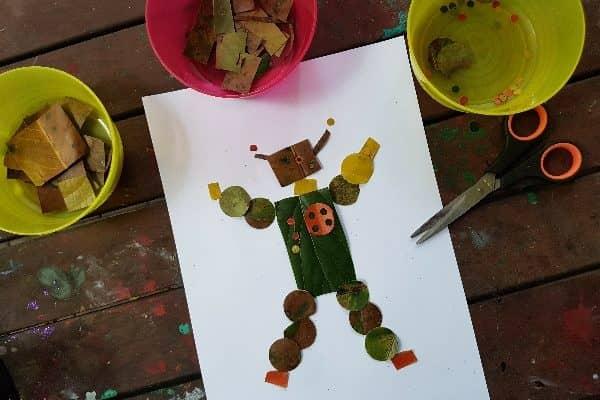 Robot leaf craft for kids