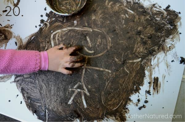 Mud Painting with Fingers