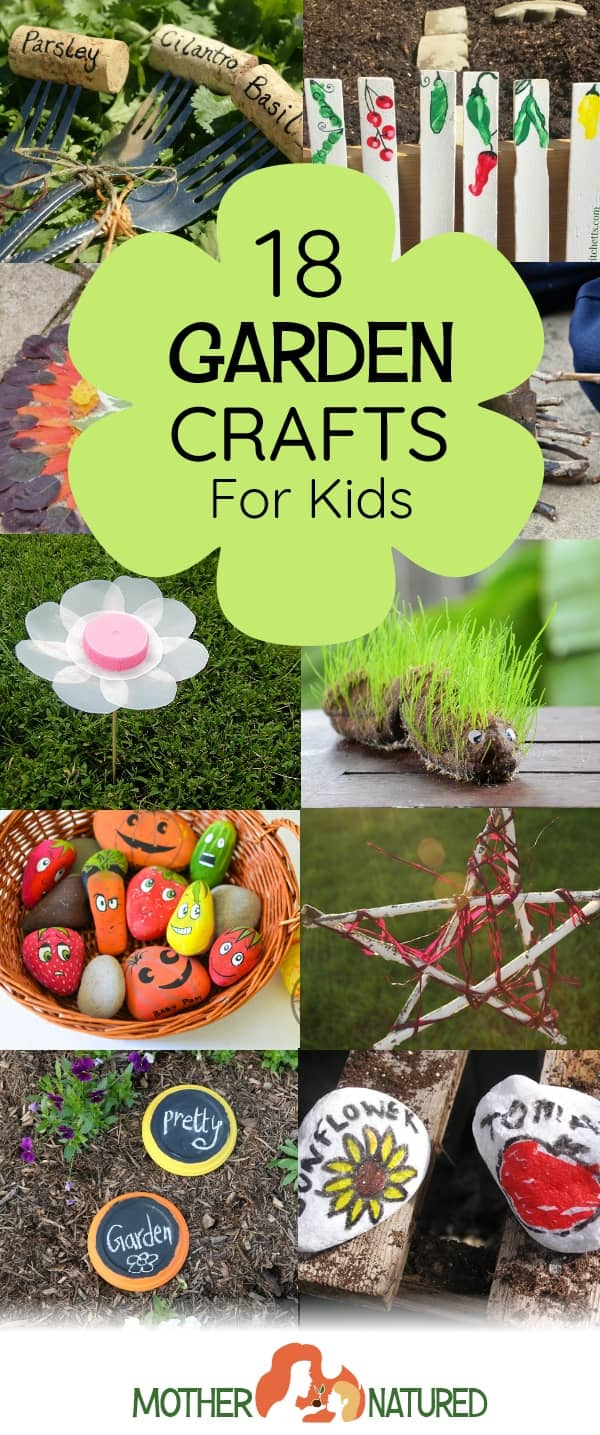 18 GORGEOUS Garden Crafts for Kids