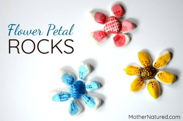 Mix and match: A fun painted rock flower craft for kids