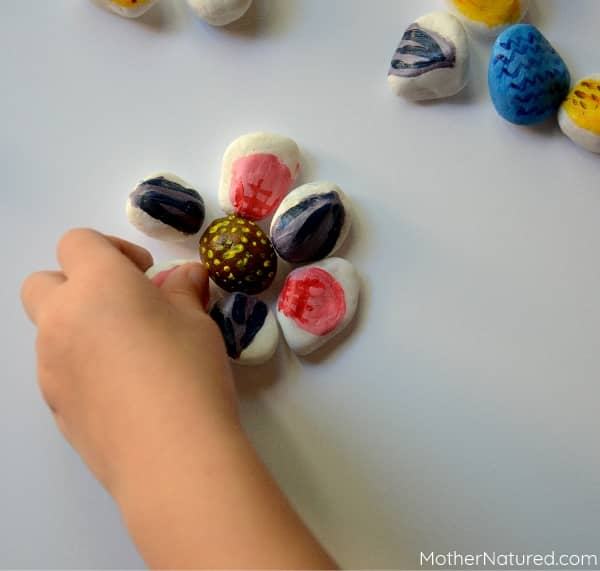 Painted Rock Flower for kids