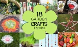 18 garden CRAFTS your kids will love!