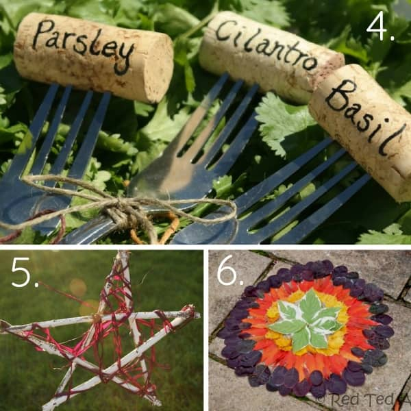 These Cork Garden Markers Arent Just Pretty They Would Make The Perfect Craft For Kids Add More Color Finger Prints To Side Creative