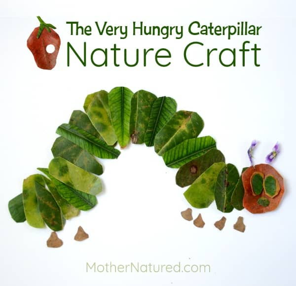 Hungry Caterpillar Leaf Craft