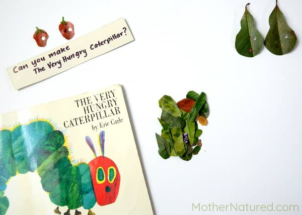 Hungry Caterpillar invitation to play
