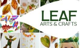 Leaf arts and crafts your kids will love!