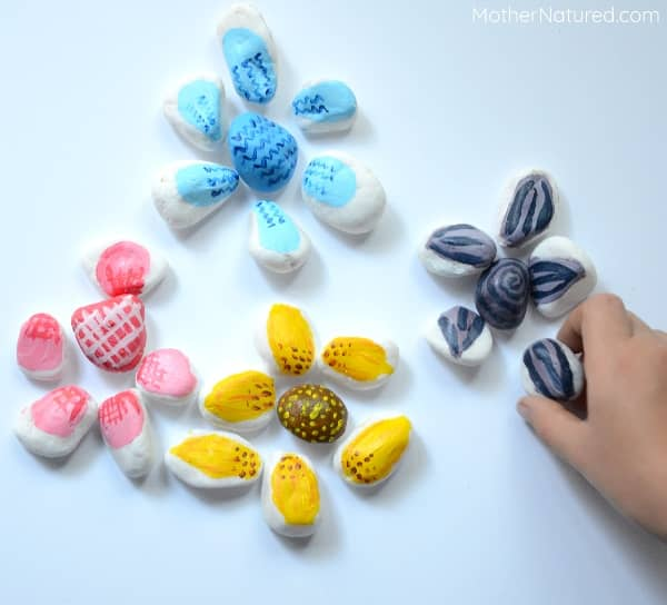painted rock flower ideas