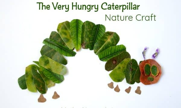 The Very Hungry Caterpillar nature craft