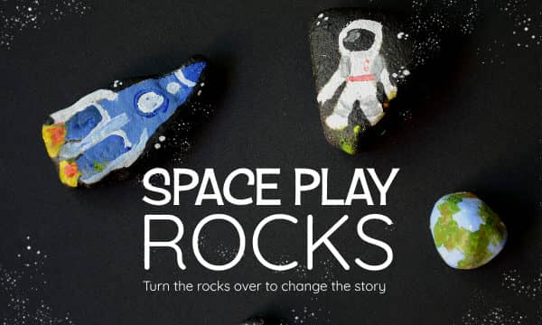 Painted Space Rocks: Turn them over to change the story!