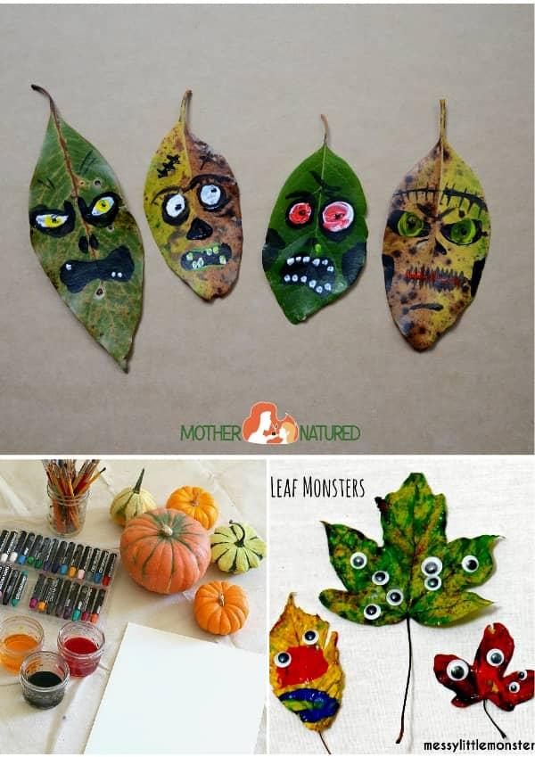 Leaf Crafts Halloween