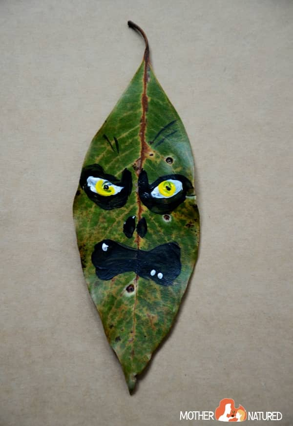 Halloween leaf zombie