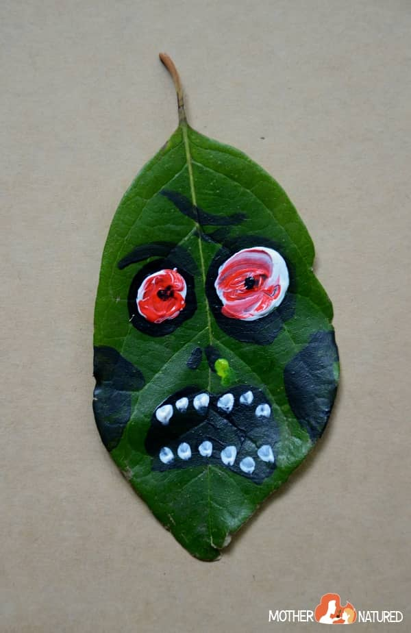 Leaf Zombie Craft
