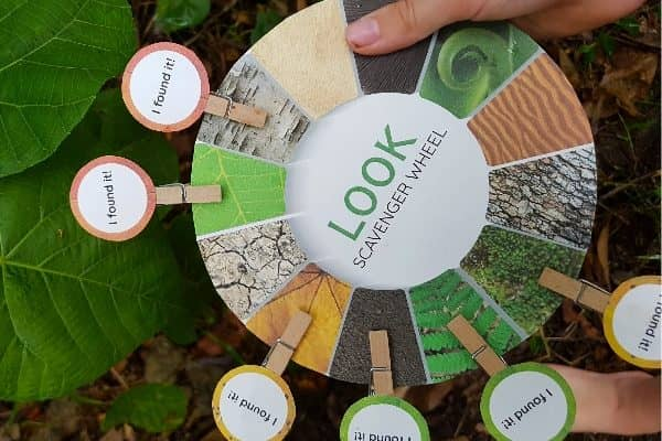 The Sensory Nature Scavenger Hunt Wheels to Delight your Child!