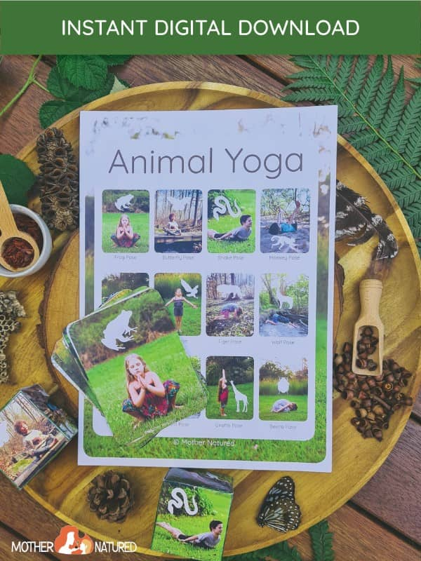 Animal Yoga Cards for Kids