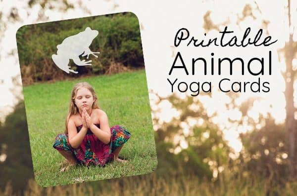 Printable Animal Yoga Cards for Little Wildlings