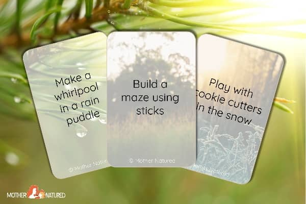 60 Nature Play Prompt Cards to Reduce Screen Time the Easy Way!