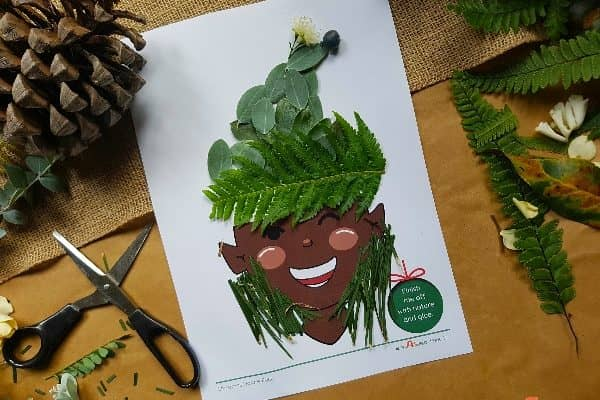 Christmas Nature Craft Printables: Enjoy Eco-Friendly festive crafts this season