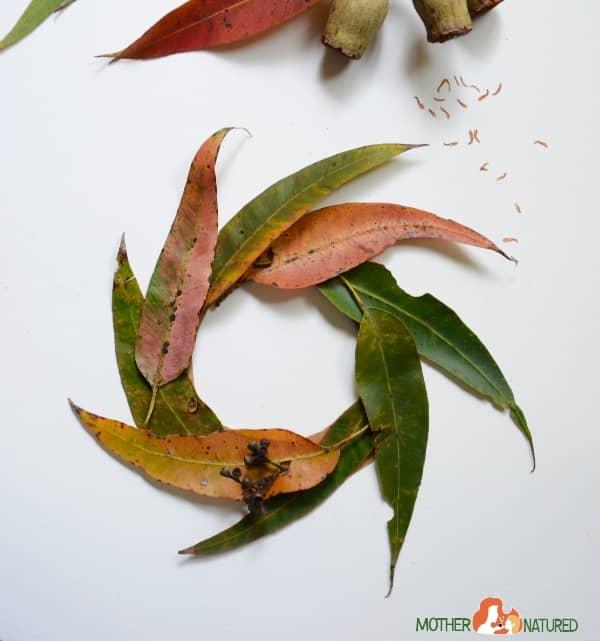 Eucalyptus Leaf wreath for kids