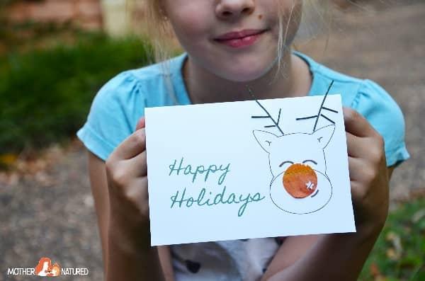 Reindeer card craft