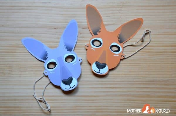Free Kangaroo Mask Printable for Little Jumpers