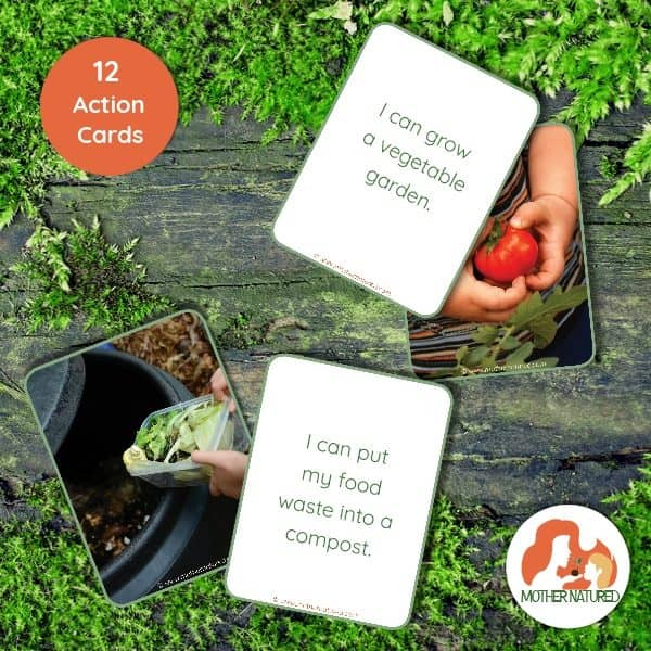 Earth Day Action Cards for Kids
