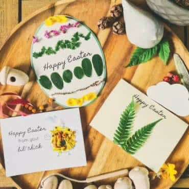 Easter Nature Craft cards A4