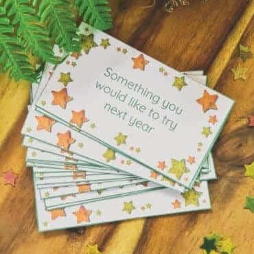 New Years Reflection Cards